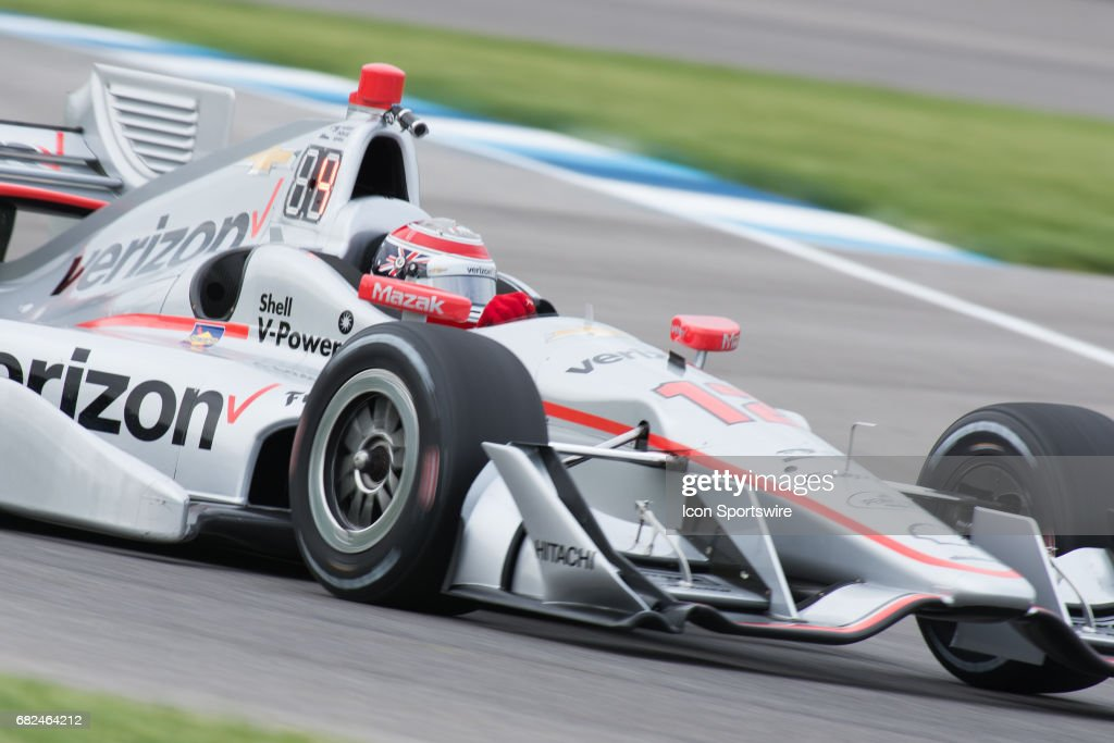 Will Power (12) practicing for the INDYCAR Grand Prix on May 12, 2017, at the Indianapolis Motor Speedway in Indianapolis, Indiana.