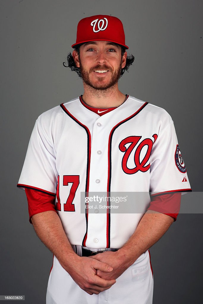 Will Rhymes #17 of the Washington Nationals poses during Photo Day on February 20, 2013 at Space Coast Stadium in Viera, Florida.