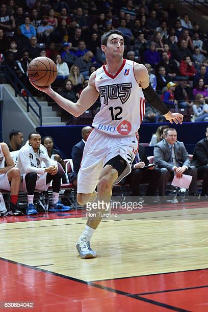 Will Sheehey of the Raptors 905 drives to the basket and passes the ball against the Delaware 87ers during the NBA DLeague game on December 27 at the...