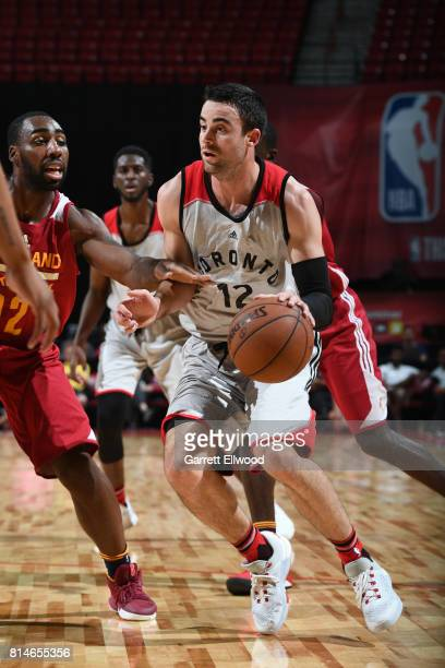 Will Sheehey of the Toronto Raptors handles the ball against the Cleveland Cavaliers on July 14 2017 at the Thomas Mack Center in Las Vegas Nevada...