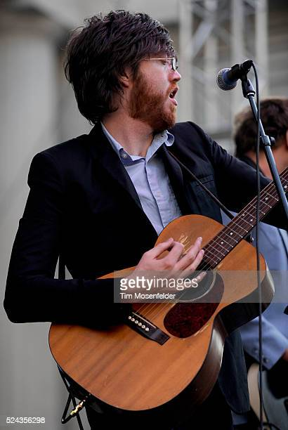 Will Sheff of Okkervil River performs in support the bands' release called The Stand Ins at the Greek Theater