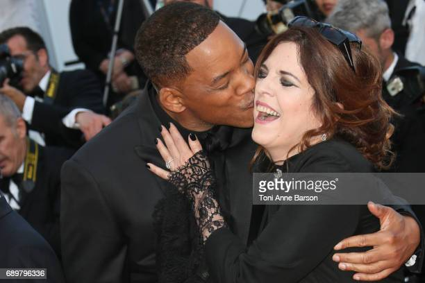 Will Smith and Agnes Jaoui attends the Closing Ceremony during the 70th annual Cannes Film Festival at Palais des Festivals on May 28 2017 in Cannes...