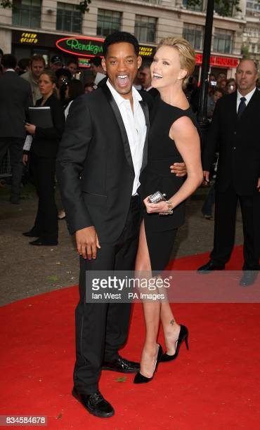Will Smith and Charlize Theron arrive for the UK Film Premiere of Hancock at the Vue West End London