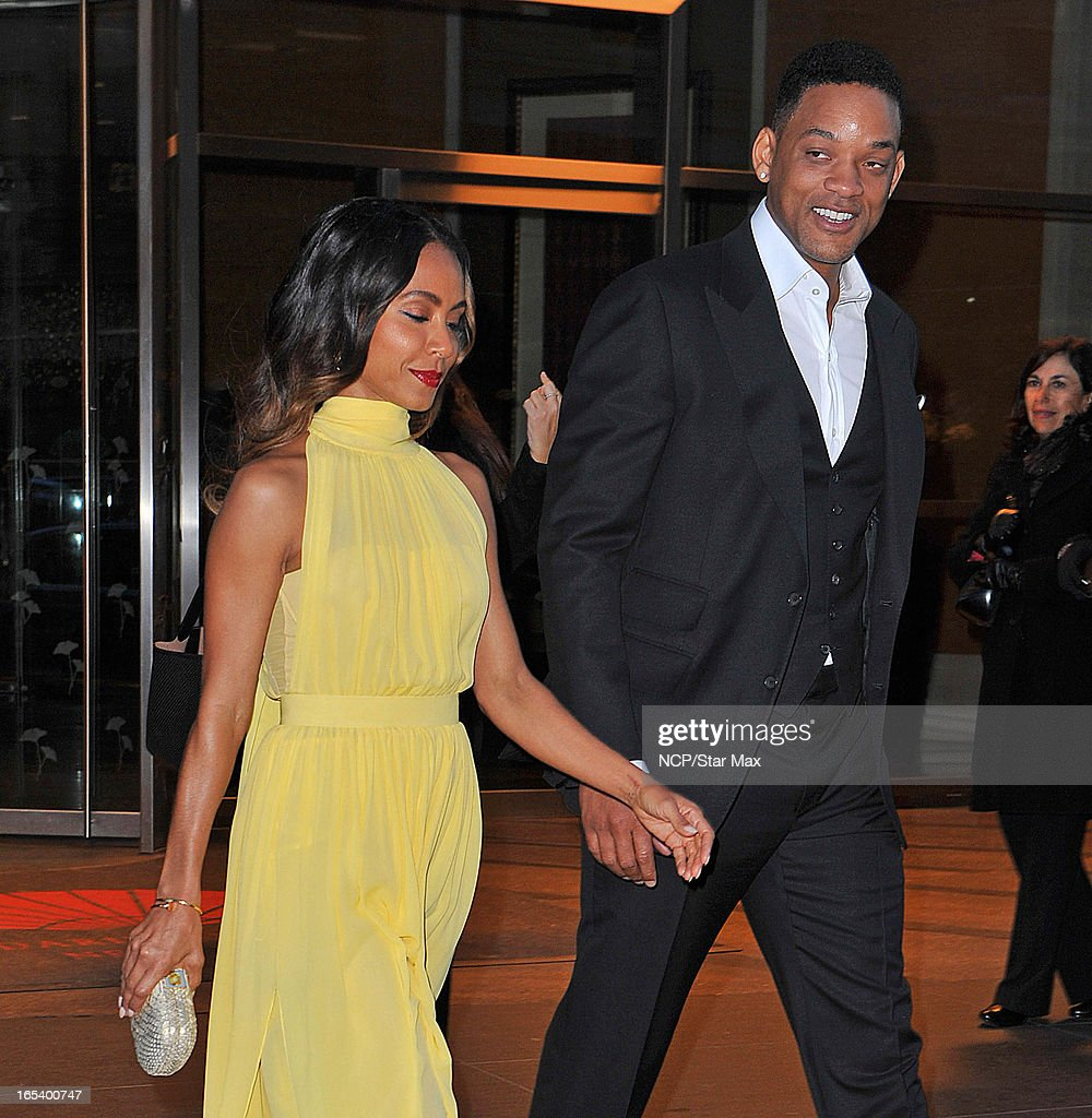 Will Smith and <a gi-track='captionPersonalityLinkClicked' href=/galleries/search?phrase=Jada+Pinkett+Smith&family=editorial&specificpeople=201837 ng-click='$event.stopPropagation()'>Jada Pinkett Smith</a> as seen on April 3, 2013 in New York City.