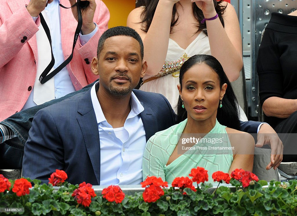<a gi-track='captionPersonalityLinkClicked' href=/galleries/search?phrase=Will+Smith&family=editorial&specificpeople=156403 ng-click='$event.stopPropagation()'>Will Smith</a> and <a gi-track='captionPersonalityLinkClicked' href=/galleries/search?phrase=Jada+Pinkett+Smith&family=editorial&specificpeople=201837 ng-click='$event.stopPropagation()'>Jada Pinkett Smith</a> attend the Mutua Madrilena Madrid Open on May 13, 2012 in Madrid, Spain.