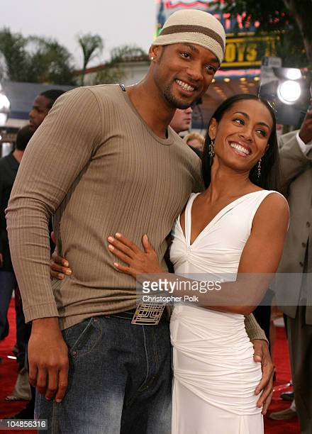 Will Smith and Jada Pinkett Smith during 'Bad Boys II' World Premiere at Mann Village in Westwood California United States
