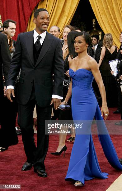 Will Smith and Jada Pinkett Smith during The 78th Annual Academy Awards Arrivals at Kodak Theatre in Hollywood California United States
