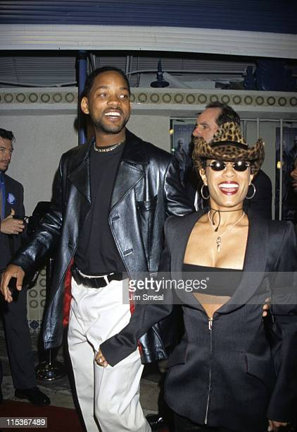 Will Smith and Jada Pinkett Smith during 'The Matrix' Los Angeles Premiere at Manns Village Theater in Westwood California United States