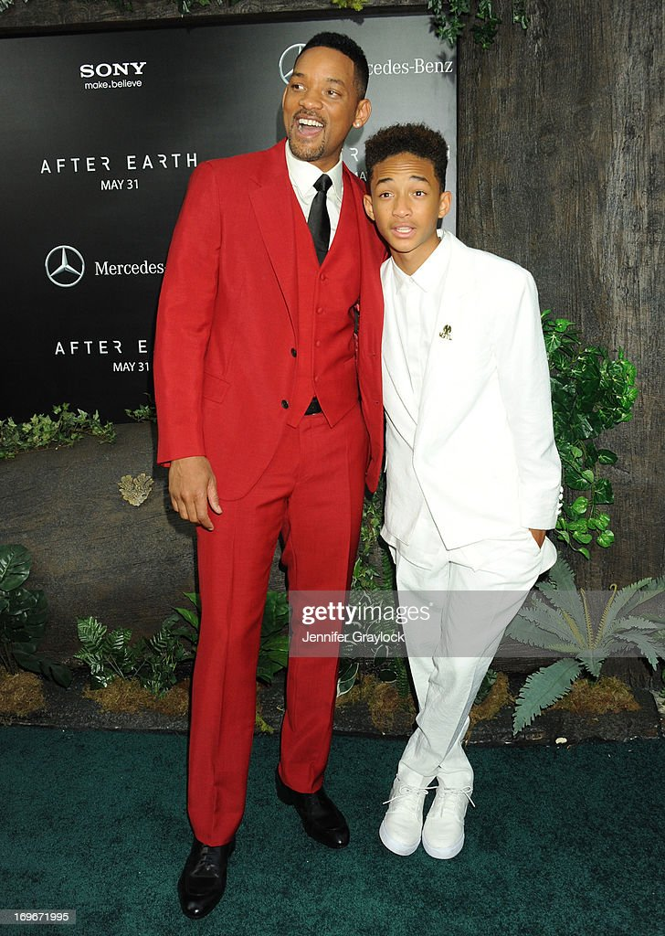 Will Smith and Jaden Smith attend the 'After Earth' premiere at Ziegfeld Theater on May 29, 2013 in New York City.