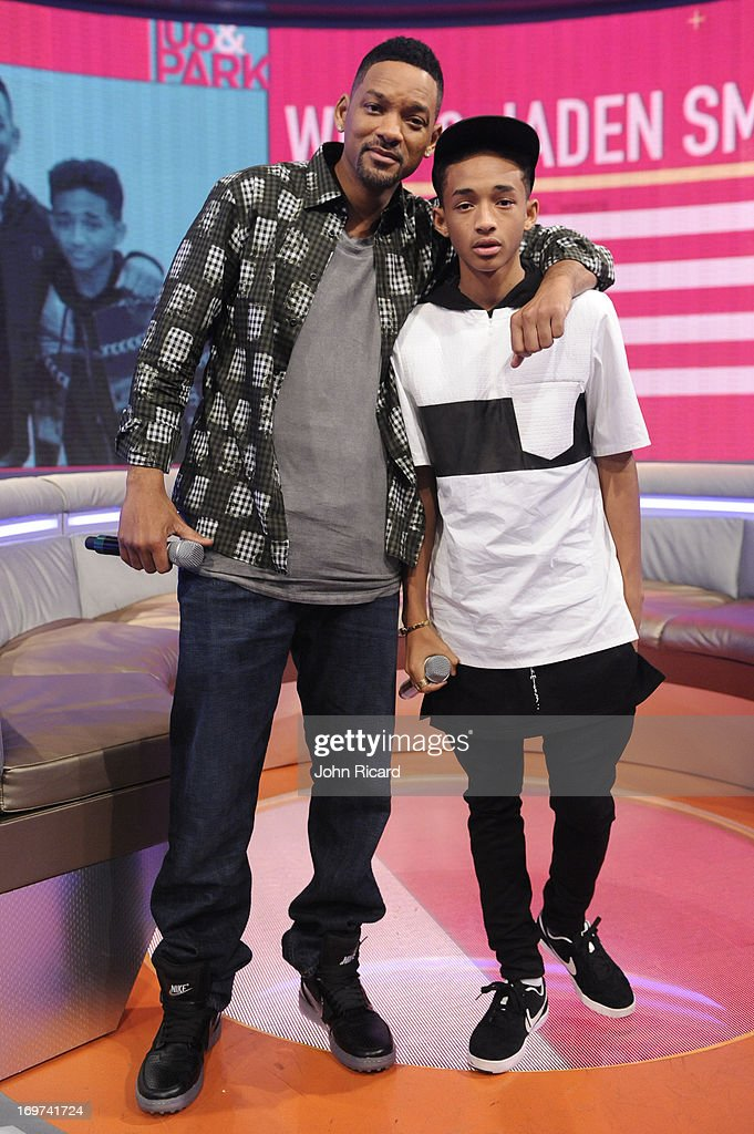 Will Smith and Jaden Smith visit BET's '106 Park' at BET Studios on May 30 2013 in New York City