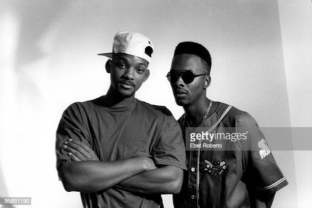 Photo of Will SMITH and JAZZY JEFF FRESH PRINCE and Jazzy JEFF DJ Posed portrait of the Fresh Prince and DJ Jazzy Jeff