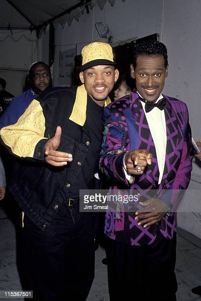 Will Smith and Luther Vandross during 6th Annual Soul Train Awards at Shrine Auditorium in Los Angeles California United States