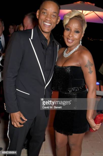 Will Smith and Mary J Blige attend the Vanity Fair and Chopard Party celebrating the Cannes Film Festival at Hotel du CapEdenRoc on May 20 2017 in...