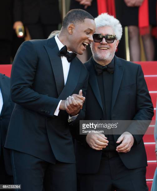 Will Smith and Pedro Almodovar attend the 'Ismael's Ghosts ' screening and Opening Gala during the 70th annual Cannes Film Festival at Palais des...