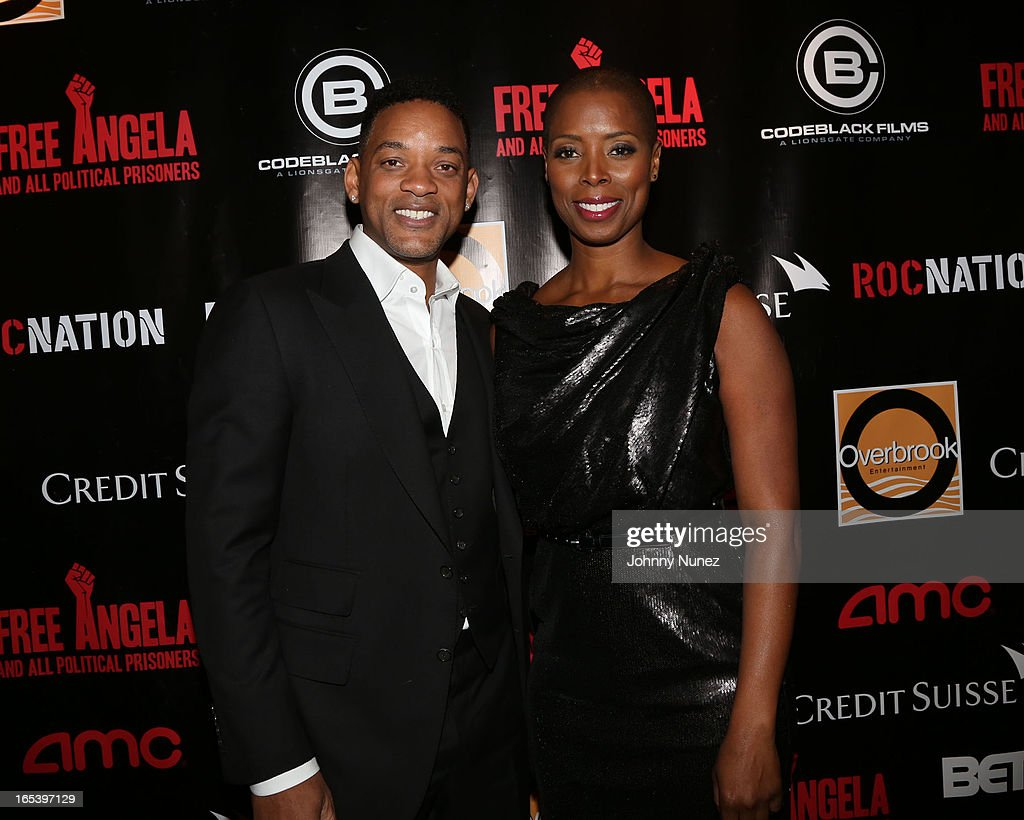 <a gi-track='captionPersonalityLinkClicked' href=/galleries/search?phrase=Will+Smith+-+Actor+-+Born+1968&family=editorial&specificpeople=156403 ng-click='$event.stopPropagation()'>Will Smith</a> and Sidra Smith attend the 'Free Angela and All Political Prisoners' New York Premiere at The Schomburg Center for Research in Black Culture on April 3, 2013 in New York City.