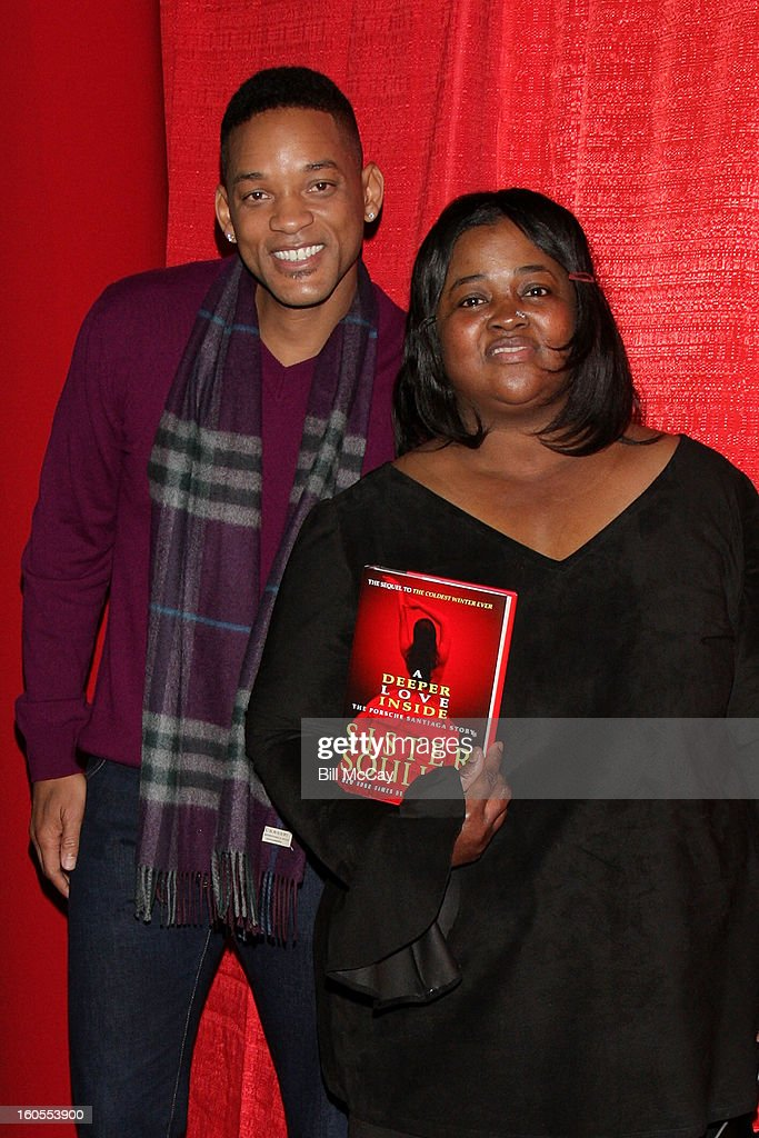 Will Smith and Sister Souljah attend the 'Real Talk' discussion of Sister Souljah's new novel 'A Deeper Love Inside: The Porsche Santiaga Story' at Temple Performing Arts Center February 2, 2013 in Philadelphia, Pennsylvania.