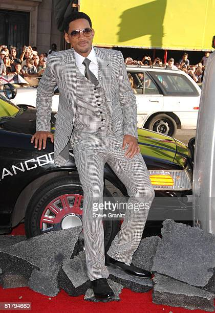 Will Smith arrives at The World Premiere of Columbia Pictures' 'Hancock' at the Grauman's Chinese Theatre on June 30 2008 in Hollywood California
