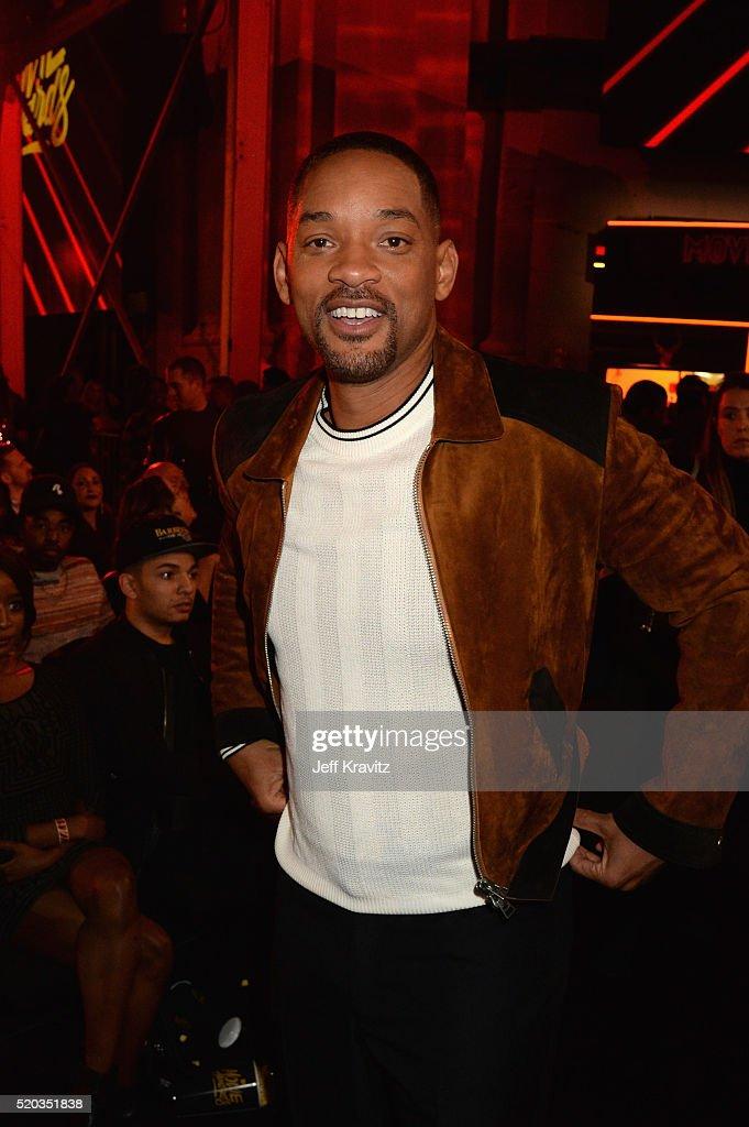 Will Smith attends the 2016 MTV Movie Awards at Warner Bros. Studios on April 9, 2016 in Burbank, California. MTV Movie Awards airs April 10, 2016 at 8pm ET/PT.