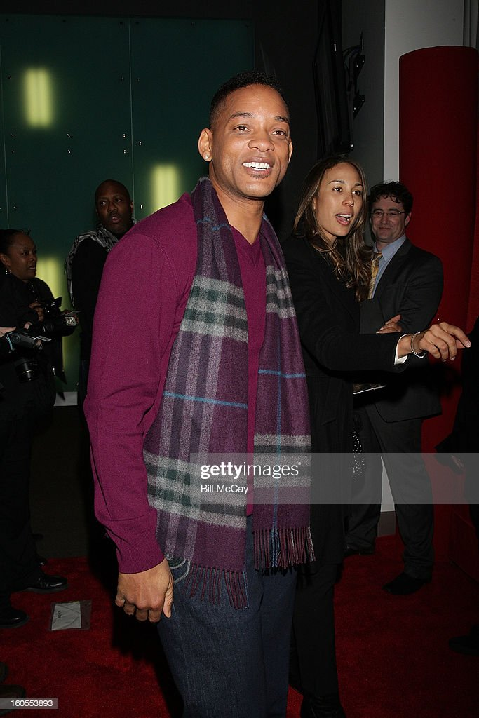 Will Smith attends the 'Real Talk' discussion of Sister Souljah's new novel 'A Deeper Love Inside: The Porsche Santiaga Story' at Temple Performing Arts Center February 2, 2013 in Philadelphia, Pennsylvania.