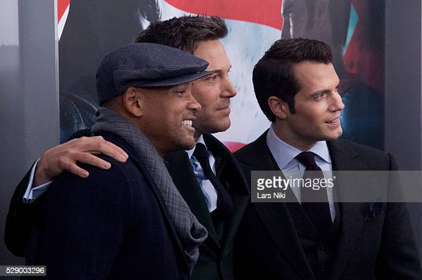 Will Smith Ben Affleck and Henry Cavill attend the 'Batman V Superman Dawn Of Justice' New York Premiere at Radio City Music Hall in New York City ��...