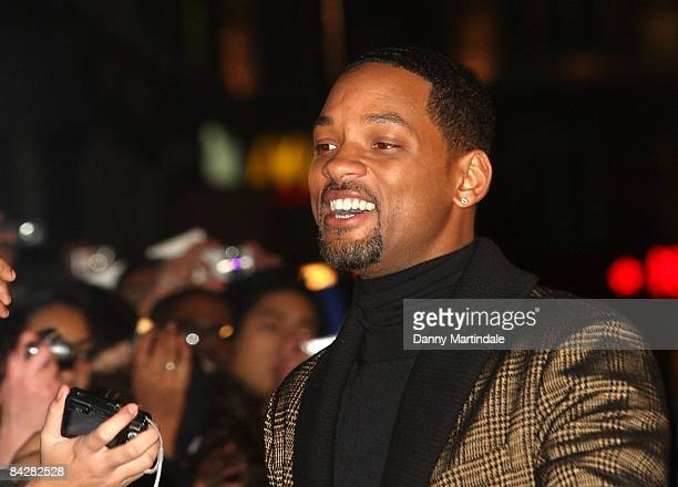 Will Smith departs the Gala Premiere of 'Seven Pounds' at The Empire Leicester Square on January 14 2009 in London England