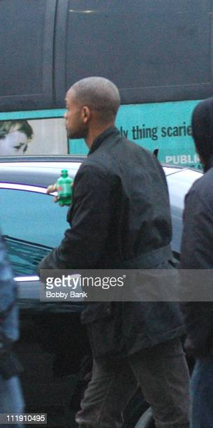 Will Smith during Will Smith on Location Filming 'I Am Legend' in New York City New York United States