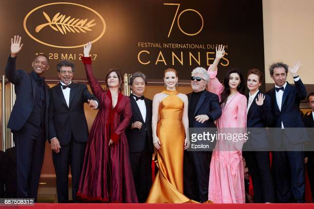 Will Smith Gabriel Yared Agnes Jaoui Park Chanwook Jessica Chastain Pedro Almodovar Fan Bingbing Maren Ade andPaolo Sorrentino attend the 70th...