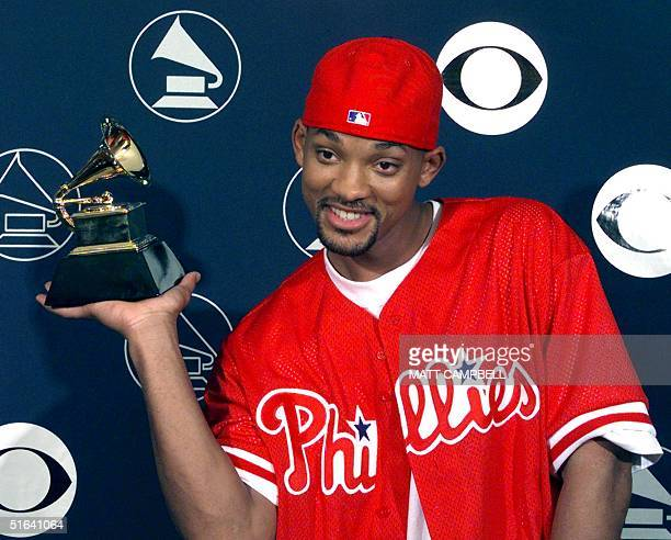 Will Smith holds his Grammy Award 25 February in New York Smith won best Rap Solo Performance for 'Men In Black' AFP PHOTO Matt CAMPBELL