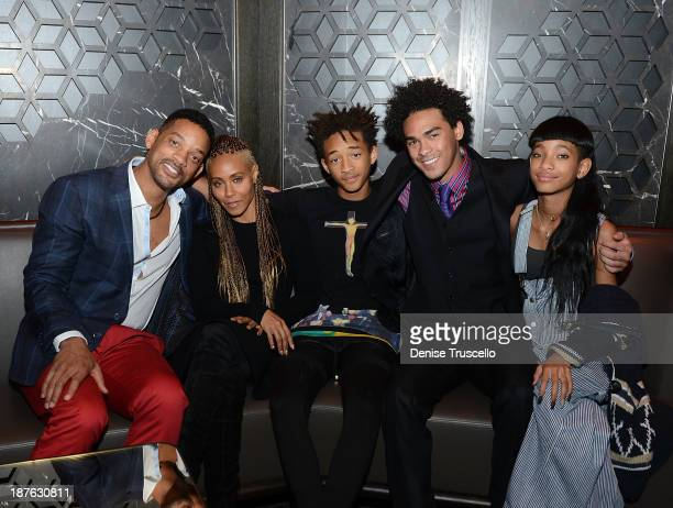 Will Smith Jada Pinkett Smith Jaden Smith Trey Smith and Willow Smith celebrate Trey Smith's 21st birthday with special dinner at Hakkasan Las Vegas...