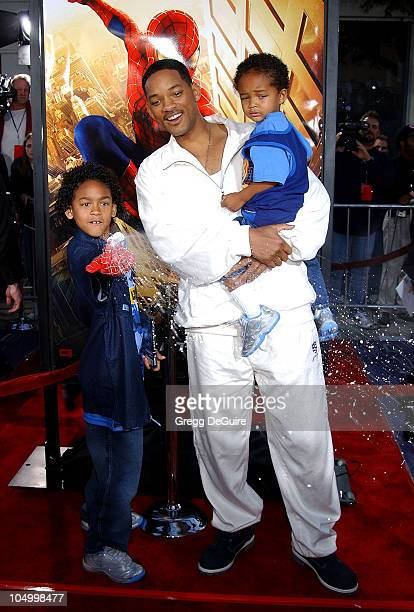 Will Smith kids during 'SpiderMan' Premiere at Mann Village in Westwood California United States