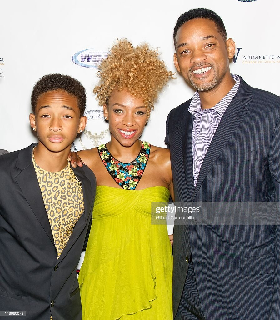 Will Smith, Lil' Mama and Jaden Smith attend the American Benefactor Foundation 'I WILL Be Great Leaders' Ceremony honoring Charles Alston at Drexel University on July 20, 2012 in Philadelphia, Pennsylvania.