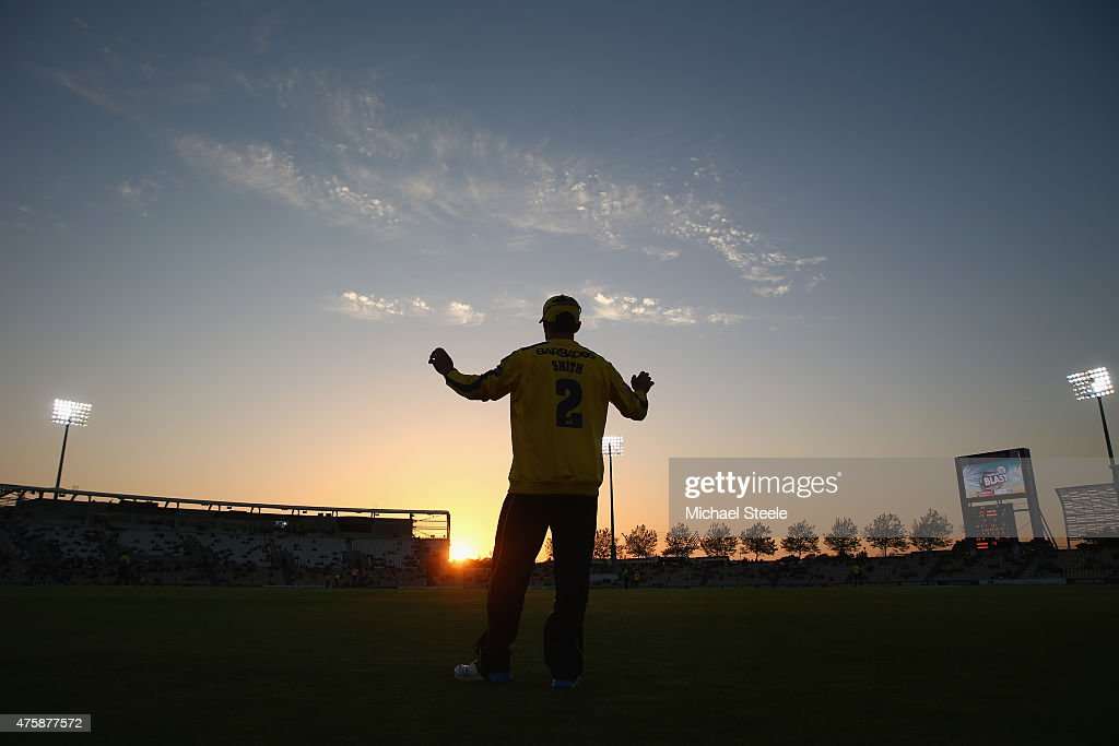 Will Smith of Hampshire fields in the deep during the NatWest T20 Blast match between Hampshire and Middlesex at the Ageas Bowl on June 4 2015 in...