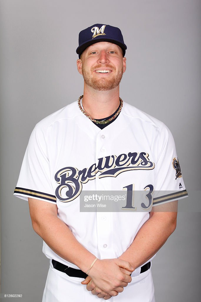 Will Smith #13 of the Milwaukee Brewers poses during Photo Day on Friday, February 26, 2016 at Maryvale Baseball Park in Phoenix, Arizona.