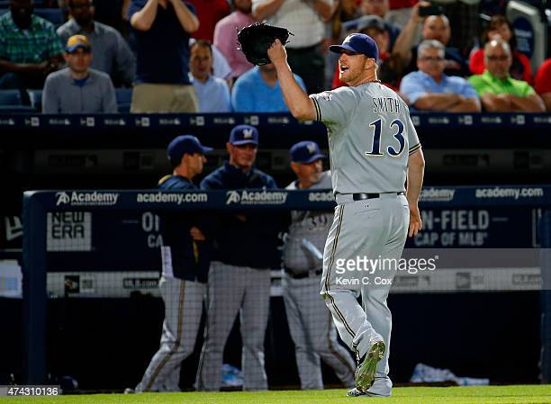 Will Smith of the Milwaukee Brewers reacts as he walks off the field after being ejected by second base umpire Jim Joyce in the seventh inning...