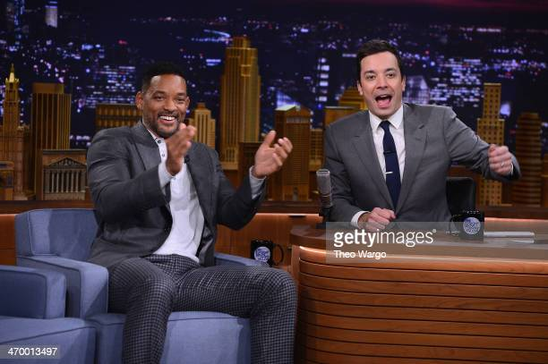 Will Smith visits 'The Tonight Show Starring Jimmy Fallon' at Rockefeller Center on February 17 2014 in New York City