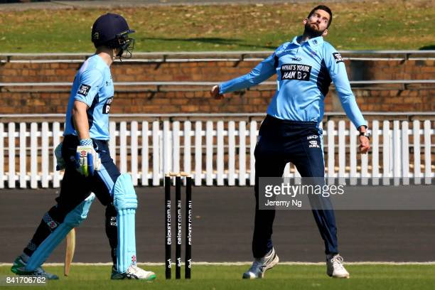 Will Somerville of Cricket NSW bowls during the Cricket NSW Intra Squad Match at Hurstville Oval on September 2 2017 in Sydney Australia
