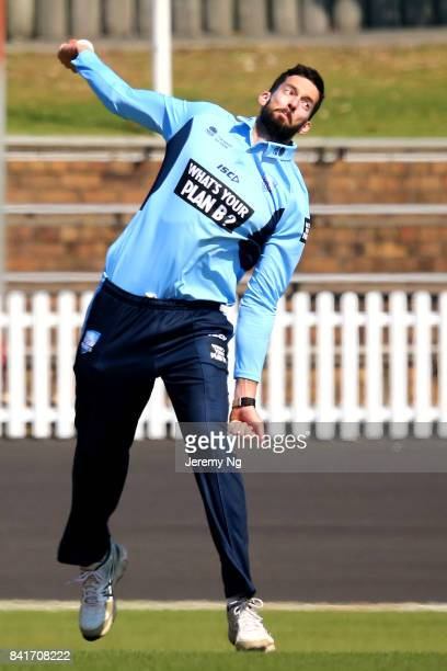 Will Somerville of Cricket NSW looks on during the Cricket NSW Intra Squad Match at Hurstville Oval on September 2 2017 in Sydney Australia