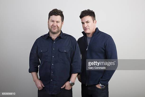 Will Speck and Josh Gordon codirectors of 'Office Christmas Party' are photographed for Los Angeles Times on December 1 2016 in Los Angeles...