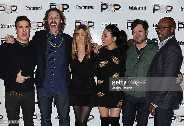 Will Speck TJ Miller Jennifer Aniston Olivia Munn Josh Gordon and Courtney B Vance attend Entertainment Weekly's Popfest at The Reef on October 30...