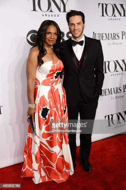 Will Swenson and actress Audra McDonald attends the 68th Annual Tony Awards at Radio City Music Hall on June 8 2014 in New York City