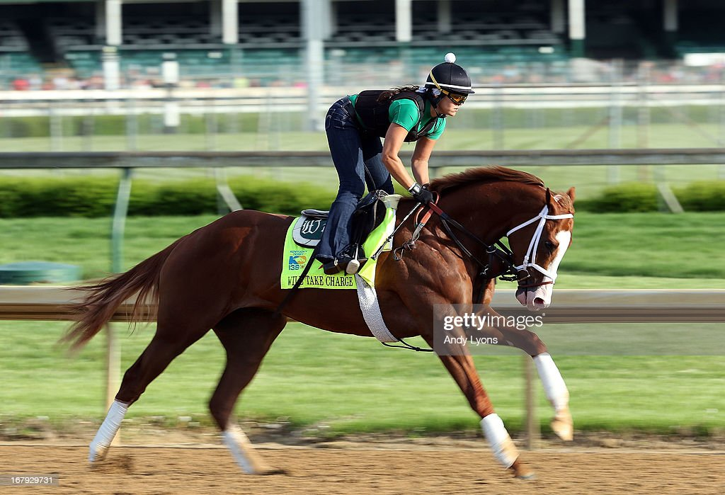 Will Take Charge runs on the track during the morning training for the 2013 Kentucky Derby at Churchill Downs on May 2, 2013 in Louisville, Kentucky.