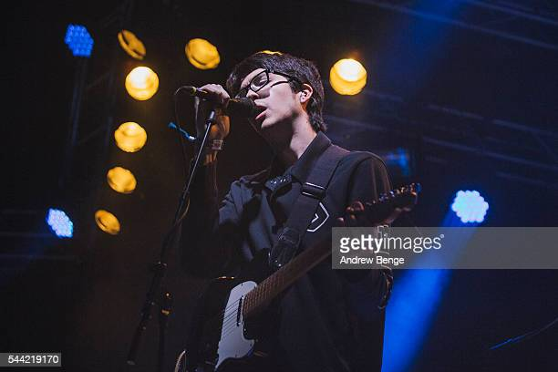 Will Toledo of Car Seat Headrest performs on the Pavilion stage during Roskilde Festival 2016 on July 1 2016 in Roskilde Denmark