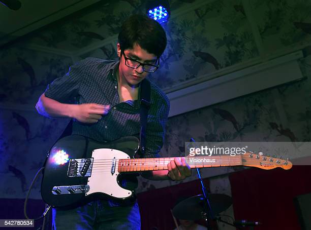 Will Toledo the Car Seat Headrest lead singer performs at the Deaf Institute on June 22 2016 in Manchester England