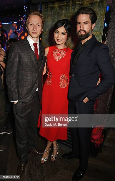 Will Tudor Gemma Chan and Jack Guinness attend the InStyle EE Rising Star party ahead of the EE BAFTA Awards at 100 Wardour St on February 4 2016 in...