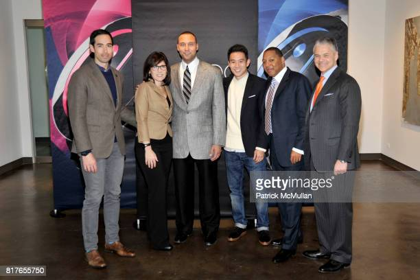 Will Varner Derek Jeter Eugene Tong Wynton Marsalis and Efraim Grinberg attend MOVADO Presents The Night Of Discovery at Visual Arts Gallery at the...
