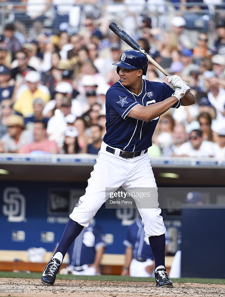 Will Venable of the San Diego Padres plays during a baseball game against the San Francisco Giants at Petco Park July 5 2014 in San Diego California