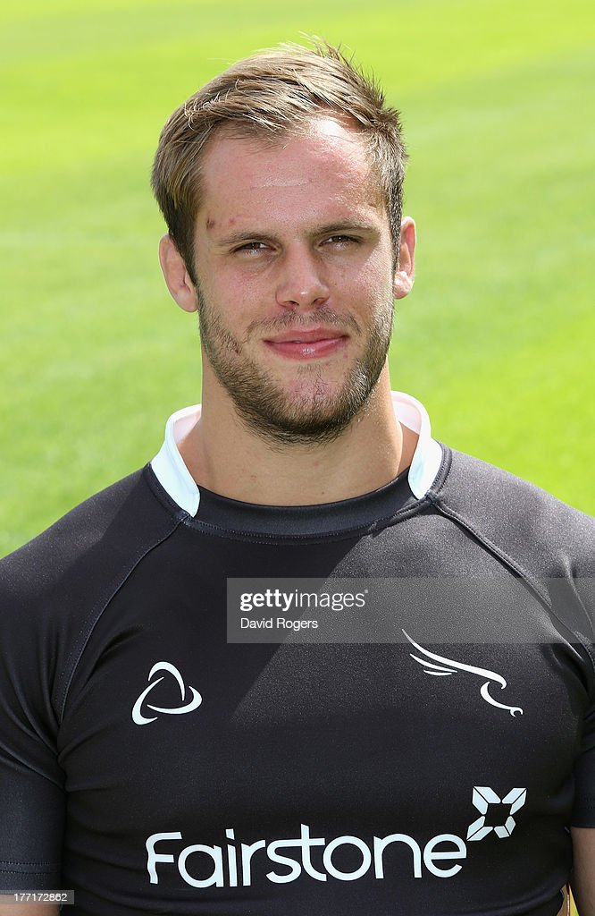 Will Welch of Newcastle Falcons poses for a portrait at the photocall held at Kingston Park on August 21, 2013 in Newcastle upon Tyne, England.