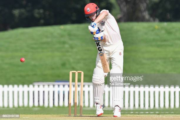 Will Williams of Canterbury batting during the Plunket Shield match between Canterbury and Wellington on March 30 2017 in Christchurch New Zealand