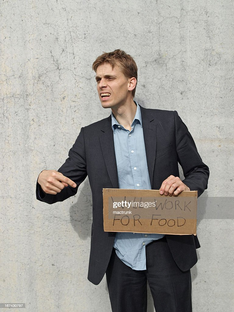 Will work for food : Stock Photo
