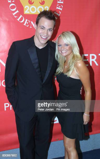 Will Young and Emma Bunton backstage in the gardens of Buckingham Palace for the second concert to commemorate the Golden Jubilee of Britain's Queen...